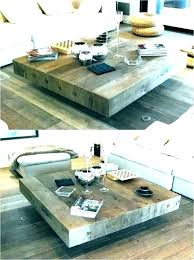 square coffee table sets unique tables
