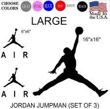 6x Michael Jordan Air Jumpman Iphone Cell Basketball Logo Vinyl Decal Sticker