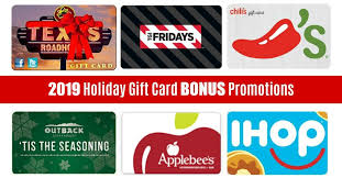 holiday gift card promotions 2019 big