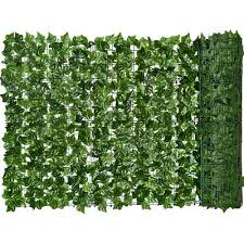 Garden Yard Sekkvy 39 X 118 Artificial Hedges Faux Ivy Privacy Fence Screen Peach Leaves Panels With Mesh Backing Vine Decoration For Outdoor Decor Outdoor Decor Decorative Fences
