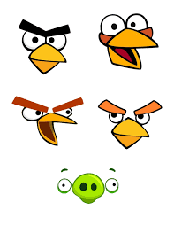 Angry Bird Treat Bag Faces Fiesta De Pajaro Cumpleanos Angry