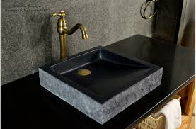 16 black bathroom sink granite stone