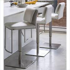 adjustable white leather bar stools
