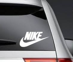 Nike Swoosh Logo Vinyl Decal Sticker Car Buy Online In Belarus At Desertcart