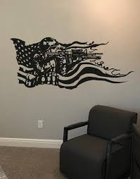 America Flag With U S Military Soldier Vinyl Wall Decal Sticker Gfoster155 Stickerbrand