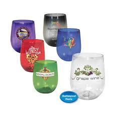 12 oz plastic stemless wine glass