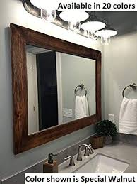 shiplap large wood framed mirror
