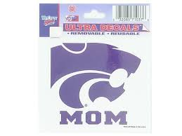 K State Wildcats 3x4 Mom Auto Decal Purple 5710103