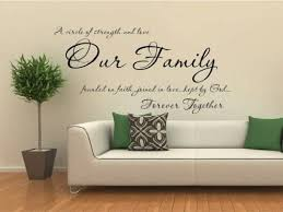 Amazon Com A Circle Of Strength And Love Our Family Vinyl Wall Decal Home Kitchen