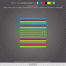0402 World Champion Stripes Bands Bicycle Decals Stickers Silver Edges For Sale Online Ebay
