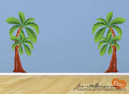 Kids Palm Tree Wall Decals Large Removable And Reposotionable Etsy