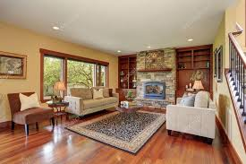 family room in antique style with