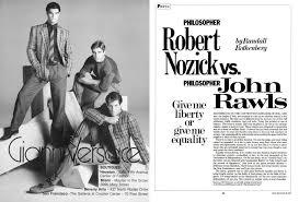 Philosopher Robert Nozick Vs. Philosopher John Rawls | Esquire | MARCH 1983