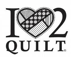 I Heart 2 Quilt White Vinyl Window Decal By Kraus Lynn