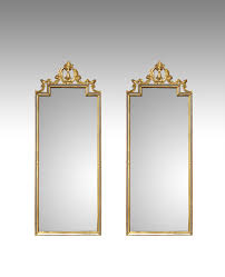 pair of antique mirrors pair of gilt