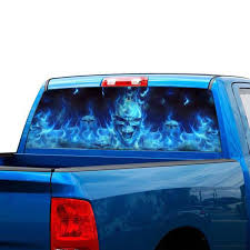 Flaming Skull Rear Window Tint Graphic Decal Wrap Back Truck Car Sticker Buy At The Price Of 14 39 In Aliexpress Com Imall Com