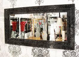 frame 68x128cm black glass mosaic