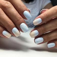 almond round acrylic nail design
