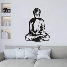 Buddha Buddhism Vinyl Wall Sticker Home Interior Art Vinyl Religion Buddha Wall Decal Home Decoration Buddhism Wallpaper Wl2036 Wall Stickers Aliexpress