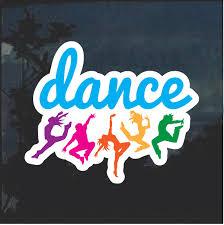 Dance Dancing Color Window Decal Sticker Custom Sticker Shop
