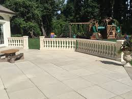 concrete barade porch railings