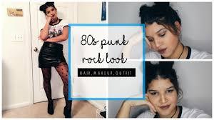 80s punk rock look hair makeup