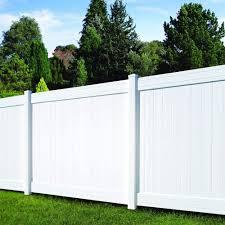 Amazon Com Veranda Fairfax White Vinyl Privacy Fence Panel 6 Ft H X 8 Ft Garden Outdoor