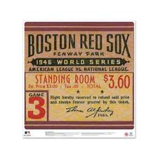 Mustang Products Boston Red Sox 1946 World Series Ticket Stub Wall Decal Mlb Dcw24 Bosws 1946g3l Sportspyder