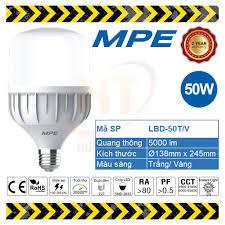 Bóng đèn LED Bulb 50W MPE (Trắng/ Vàng)