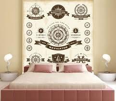Vintage Nautical Labels Set Wall Mural Wallpaper Murals Oleg Iatsun