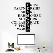 Teamwork Quote Wall Decal Motivation Business Team Work Wall Decor Art Inspirational Word Office Interior Wall Decoration Nursery Wall Decal Nursery Wall Decals From Joystickers 14 2 Dhgate Com
