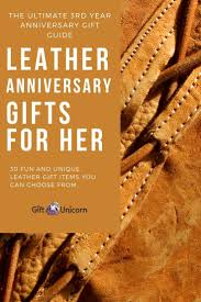 30 leather anniversary gifts for her