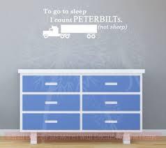Count Peterbilts Not Sheep Boys Wall Sticker Decals Truck Art Kids Bedroom Quotes