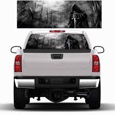 Universal Car Auto Sticker Dark Forest Horror Pattern Rear Window Perforated Graphic Decal Tint Sticker Truck For Halloween Car Stickers Aliexpress
