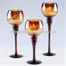 gold mercury glass goblet holiday