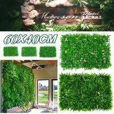 1pcs Artificial Plant Mat Wall Hedge Decor Privacy Fence Panel Grass 60x40cm Shopee Philippines