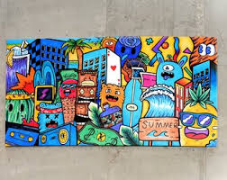 Kids Pop Art Etsy