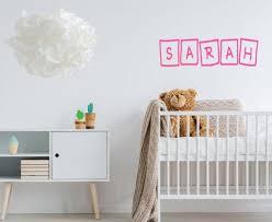 Custom Name Sticker Childrens Wall Art Nursery Wall Art Etsy