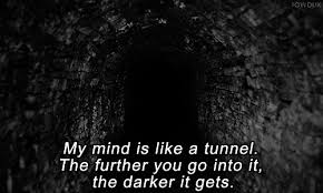 black and white depressed depression quotes head silence thoughts