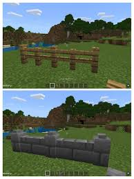 Building Pro Tip Use Buttons On Top Of Fences And Walls To Add Detail Minecraft