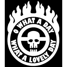 Amazon Com Ride Eternal Shiny And Chrome Badge Mad Max Style Vinyl Truck Rig Decal Sticker Small Or Large Sizes Small Black Arts Crafts Sewing
