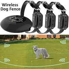 Wireless Electric Dog Fence Pet Containment System Shock Collars For 1 2 3 Dogs Get One In 2020 Shock Collar Pet Containment Systems Dog Training Collar