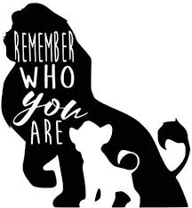 Amazon Com Zhehao Lion King Mufasa Simba Remember Who You Are Vinyl Decal Sticker Car Decals Window Decals Laptop Decals And Mobile Stickers 5 5x6 Inches Black Kitchen Dining