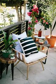 patio with brown metal chairs