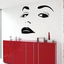 Shop Model Woman Decal Beauty Salon Wall Decor Vinyl Art Wall Decor Make Up Decals Cosmetics Sticker Decal Size 22x22 Color Black Overstock 14529879