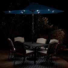 market solar lighted 8 rib round patio