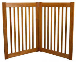 2 Panel Freestanding Wood Dog Gate Pet Gate Outdoor Pet Gate Dog Gate