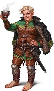 f halfling ranger studded leather armor
