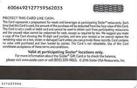 gift card we re going to sizzler