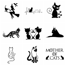 10 Styles Cute Cat Car Stickers Wrap Vinyl For Car Door Decal Graphic Universal Car Accessories Decoration Buy At The Price Of 0 90 In Aliexpress Com Imall Com